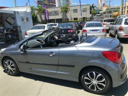 2008 Peugeot 207 CC 1.6 Grey 4 Speed Automatic Cabriolet Southport Gold Coast City Preview