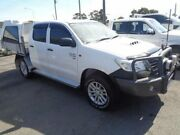 2014 Toyota Hilux KUN26R MY14 SR (4x4) White 5 Speed Automatic Double Cab Chassis Sandgate Newcastle Area Preview