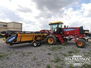 2014 NH SR200 Swather & 40' Header - 190hp, Roto Shears, GPS