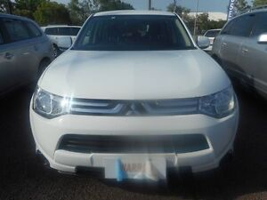 2013 Mitsubishi Outlander ZJ MY13 ES 4WD White 6 Speed Constant Variable Wagon Winnellie Darwin City Preview