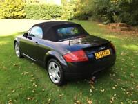 Audi TT Roadster 1.8 ( 150bhp ) 2004MY T BLACK CONVERTIBLE A1 IMMACULATE PX