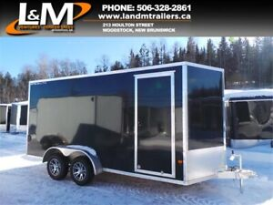 NEW 2019 STEALTH 7X16' ALUMINUM CARGO TRAILER- EXTRA HEIGHT