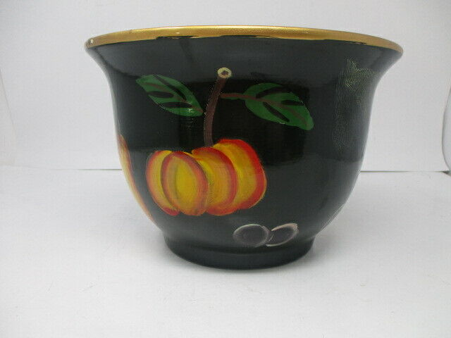 Hand Painted Fruit Design Ceramic Fruit Bowl/Planter