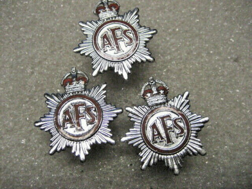/British  FD Auxiliary Fire Service lot of 3 pins