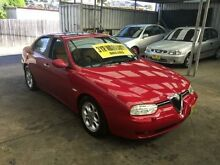 2002 Alfa Romeo 156 V6 Red 6 Speed Manual Sedan Five Dock Canada Bay Area Preview