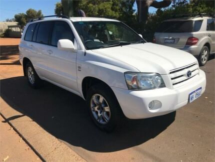 2006 Toyota Kluger MCU28R Upgrade CV (4x4) White 5 Speed Automatic Wagon Margaret River Margaret River Area Preview