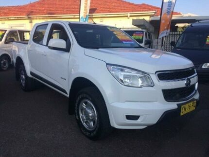 2013 Holden Colorado RG LX (4x4) White 6 Speed Automatic Crew Cab P/Up