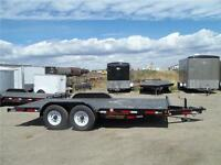 ALBERTA'S BEST PRICED 14K 7X18 EQUIPMENT TRAILER $4700.00