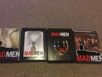 Madmen DVD Seasons 1, 2, 3 and 4