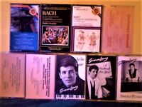 BACH, BIZET, BRAHMS, BOCCHERINI, MENDELSSOHN AND VARIOUS PIANO WORKS PRERECORDED CASSETTE TAPES 50p