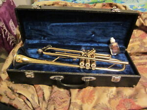 Brass Trumpet and case for sale.Andre Bardot