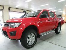 2012 Mitsubishi Triton MN MY12 GLX (4x4) Red 5 Speed Manual 4x4 Dual Cab Utility Fyshwick South Canberra Preview