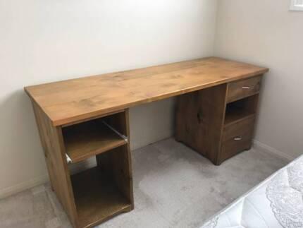 timber office desk. Office Desk - Solid Timber L