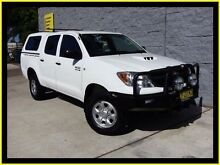 2008 Toyota Hilux KUN26R 08 Upgrade SR (4x4) White 5 Speed Manual Dual Cab Pick-up Penrith Penrith Area Preview