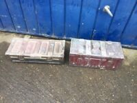 2 ex MOD ammo boxes, I used to use them to store tools in but no longer needed