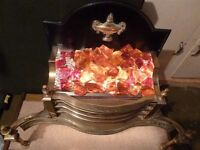 Brilliant Solid Brass Electric Fire ideal for a open fireplace