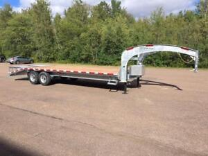 "NEW 2019 K-TRAIL 102"" x 25' DECK-OVER SWAN NECK TRAILER"