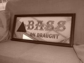 Public House BASS Advertising Mirror