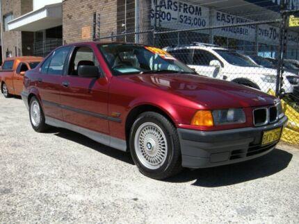 1992 BMW 318i Burgundy 4 Speed Automatic Sedan Wangara Wanneroo Area Preview