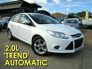 2014 Ford Focus LW MKII Trend PwrShift Frozen White 6 Speed Sports Automatic Dual Clutch Hatchback Noosaville Noosa Area Preview