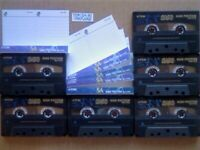 A2Z JL 6x TDK SA 90 CHROME CASSETTE TAPES 1997-2002 W/ CARDS CASES LABELS GUARANTEED GOODS FREE P&P