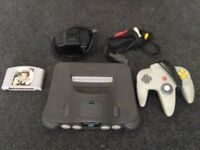 Nintendo 64 with golden eye game complete and fully working