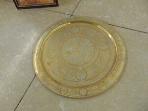 Brass Oriental wall plaque 27""