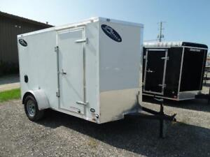 6x10 Enclosed Utility Trailer with ramp