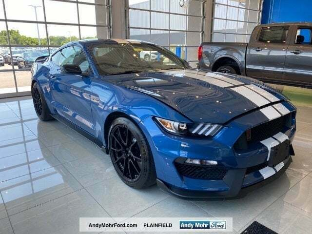 New 19 Ford Mustang Shelby GT350 Performance Blue White 5.2L Voodoo