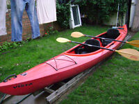 Perception Vista double 2 person kayak, with sprayskirt and paddles £350