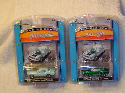 GREENLIGHT GREEN MACHINE MUSCLE CAR GARAGE 1967 MUSTANG GT COUPE AND -
