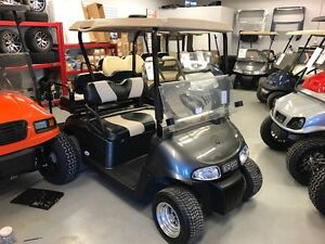 2009 EZGO RXV Electric Golf Cart Custom Seats