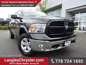 2016 RAM 1500 SLT W/ 4X4, REAR-VIEW CAMERA & TOW PACKAGE