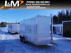 NEW 2019 STEALTH 7X14' ALUMINUM CARGO TRAILER- EXTRA HEIGHT