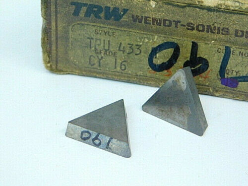 NEW SURPLUS 7PCS. TRW  TPU 433  GRADE: CY16  CARBIDE INSERTS
