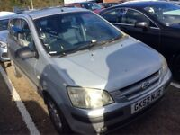 2002 HYUNDAI GETZ 1.3 CDX PETROL MANUAL 5 DOOR HATCHBACK 5 SEAT MOT GOOD DRIVE N CORSA CLIO CIVIC KA
