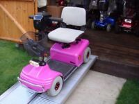 Rare Heavy Duty Pink Shoprider Deluxe Mobility Scooter Comfortable Ride - Was £2200 Now £395