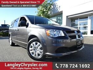 2016 Dodge Grand Caravan SE/SXT W/ U-CONNECT BLUETOOTH & STOW...