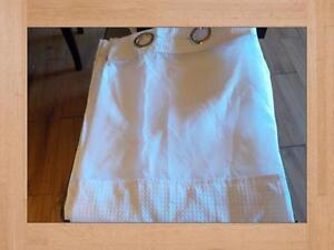 Shower Curtain and Liner Hookless White Waffle Longer Length