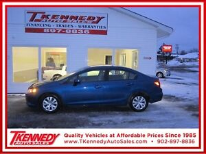 2012 HONDA CIVIC LX $10,988 FINANCE OAC ONLY $89.00 B/W 0 DOWN