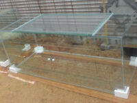 New 120 Gallon Glass Terrarium with Sliding Doors