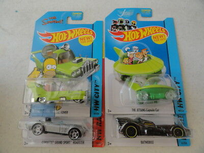 The Jetson Kids (HOT WHEELS TV THE JETSONS HOMER,BATMOBILE, & FAST & FURIOUS SET OF 4  #)