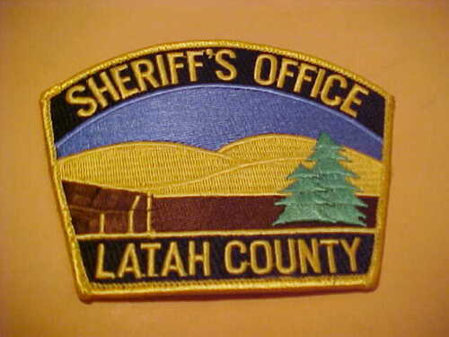 LATAH COUNTY IDAHO POLICE PATCH SHOULDER SIZE UNUSED