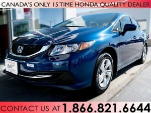 2015 Honda Civic LX | 1 OWNER | NO ACCIDENTS | LOW KM'S