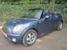 Mini Convertible 1.6 Cooper 2DR (blue) 2009