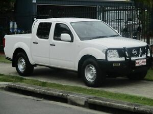2012 Nissan Navara D40 MY12 RX (4x4) White 6 Speed Manual Styleside Springwood Logan Area Preview