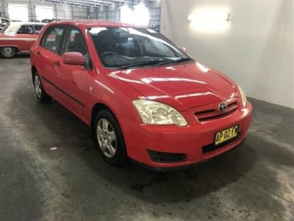 2007 Toyota Corolla ZZE122R MY06 Upgrade Ascent Seca Red 5 Speed Manual Hatchback Beresfield Newcastle Area Preview
