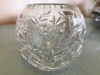 Cut-Glass Rose Bowl