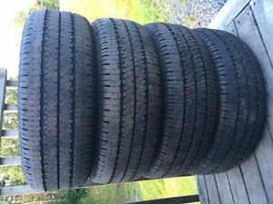 Four P195/60R15 Summer Tires
