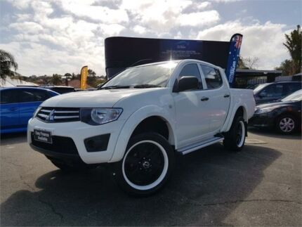 2014 Mitsubishi Triton MN MY14 Update GLX White 4 Speed Automatic Double Cab Utility Mount Hawthorn Vincent Area Preview